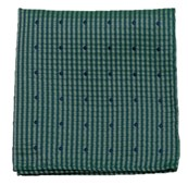 Pocket Squares - FRENCH KISS - GREEN TEAL
