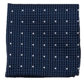 Navy French Kiss pocket square