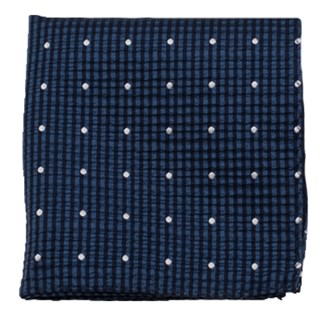 french kiss navy pocket square