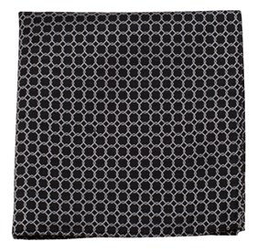 Chain Reaction Black pocket square