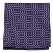 Pocket Squares - CHAIN REACTION - PURPLE