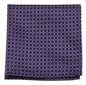 Chain Reaction Purple pocket square