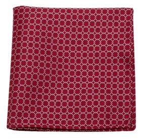 Red Chain Reaction pocket square