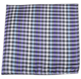 Purple Daydream Plaid pocket square