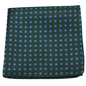 anemones hunter green pocket square