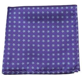 Purple Anemones pocket square