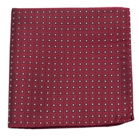 Red Wacker Drive Checks pocket square