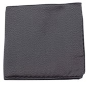 POCKET SQUARES - MELANGE TWIST SOLID - CHARCOAL
