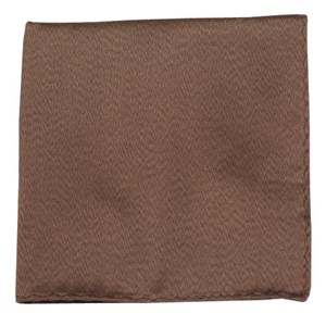 melange twist solid brown pocket square