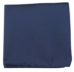 Melange Twist Solid Navy pocket square
