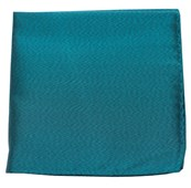 POCKET SQUARES - MELANGE TWIST SOLID - GREEN TEAL