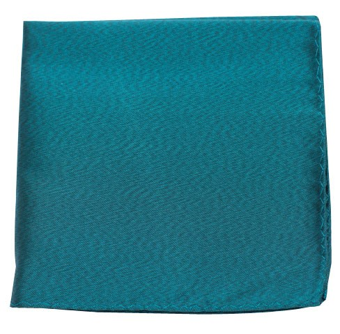 Melange Twist Solid Green Teal Pocket Square