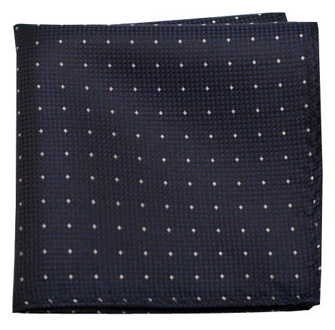 Showtime Geo Midnight Navy Pocket Square