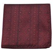 Pocket Squares - Interlaced - Burgundy