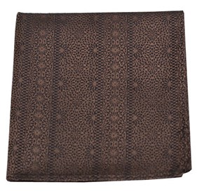 Brown Interlaced pocket square
