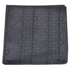 Charcoal Interlaced pocket square