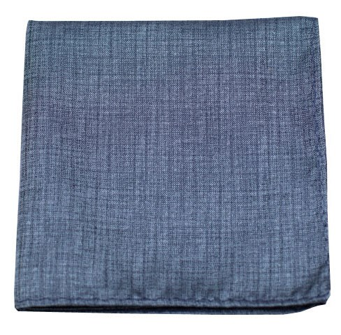 Slate Blue Debonair Solid Pocket Square