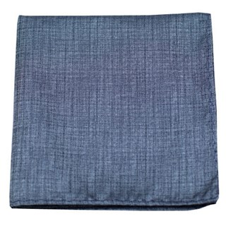 Debonair Solid Slate Blue Pocket Square