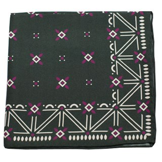 Albuquerque Print Hunter Green Pocket Square