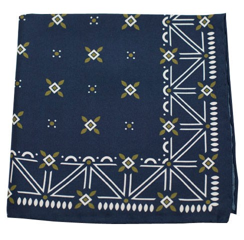 Navy Albuquerque Print Pocket Square