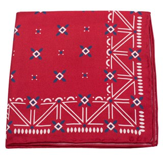 Albuquerque Print Red Pocket Square
