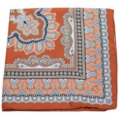 Pocket Squares - PERSIAN MANOR - BURNT ORANGE