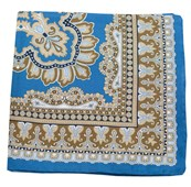Pocket Squares - PERSIAN MANOR - CORNFLOWER BLUE