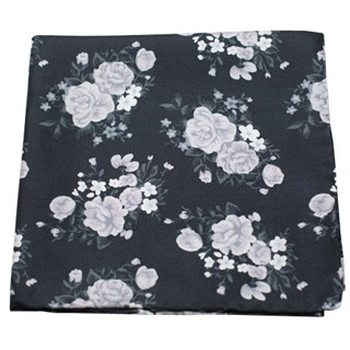 hinterland floral black pocket square