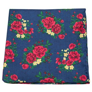 hinterland floral navy pocket square