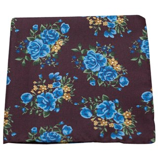 hinterland floral deep burgundy pocket square