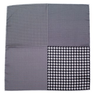 houndstooth panel black pocket square
