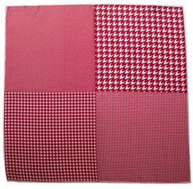 Red Houndstooth Panel pocket square