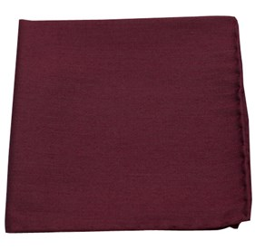 Burgundy Astute Solid pocket square