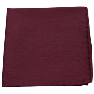 astute solid burgundy pocket square