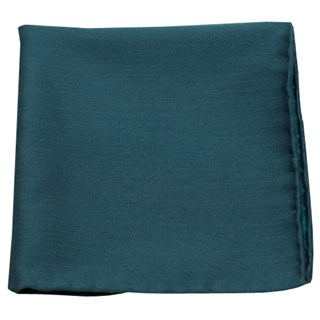 astute solid green teal pocket square