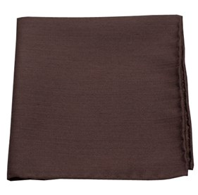 Chocolate Astute Solid pocket square