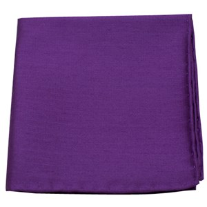 astute solid plum pocket square