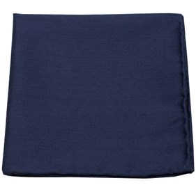 Astute Solid Navy pocket square
