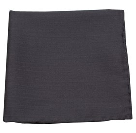 Charcoal Astute Solid pocket square