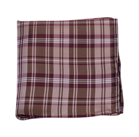 Bronze Narrative Plaid pocket square