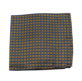 Yellow Aerial Geo pocket square