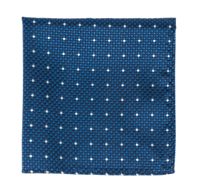 Blue Vinyl Dots pocket square