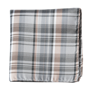 band of plaid titanium pocket square