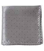POCKET SQUARES - INDUSTRY SOLID - SILVER