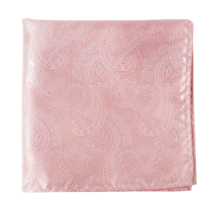 Twill Paisley Blush Pink Pocket Square