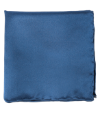 POCKET SQUARES - SOLID TWILL - CLASSIC BLUE