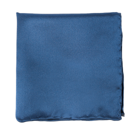 Solid Twill Classic Blue pocket square