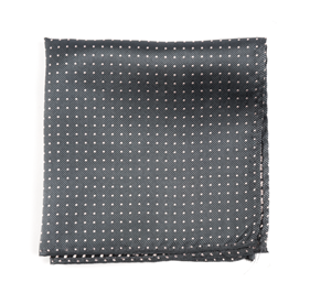 Charcoal Mini Dots pocket square