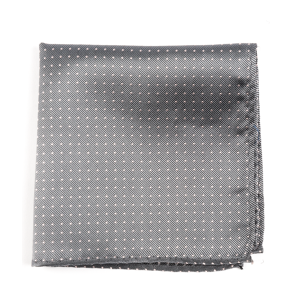 Grey Mini Dots Pocket Square