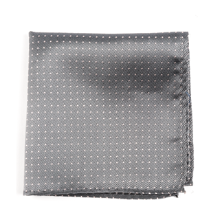 Mini Dots Grey Pocket Square